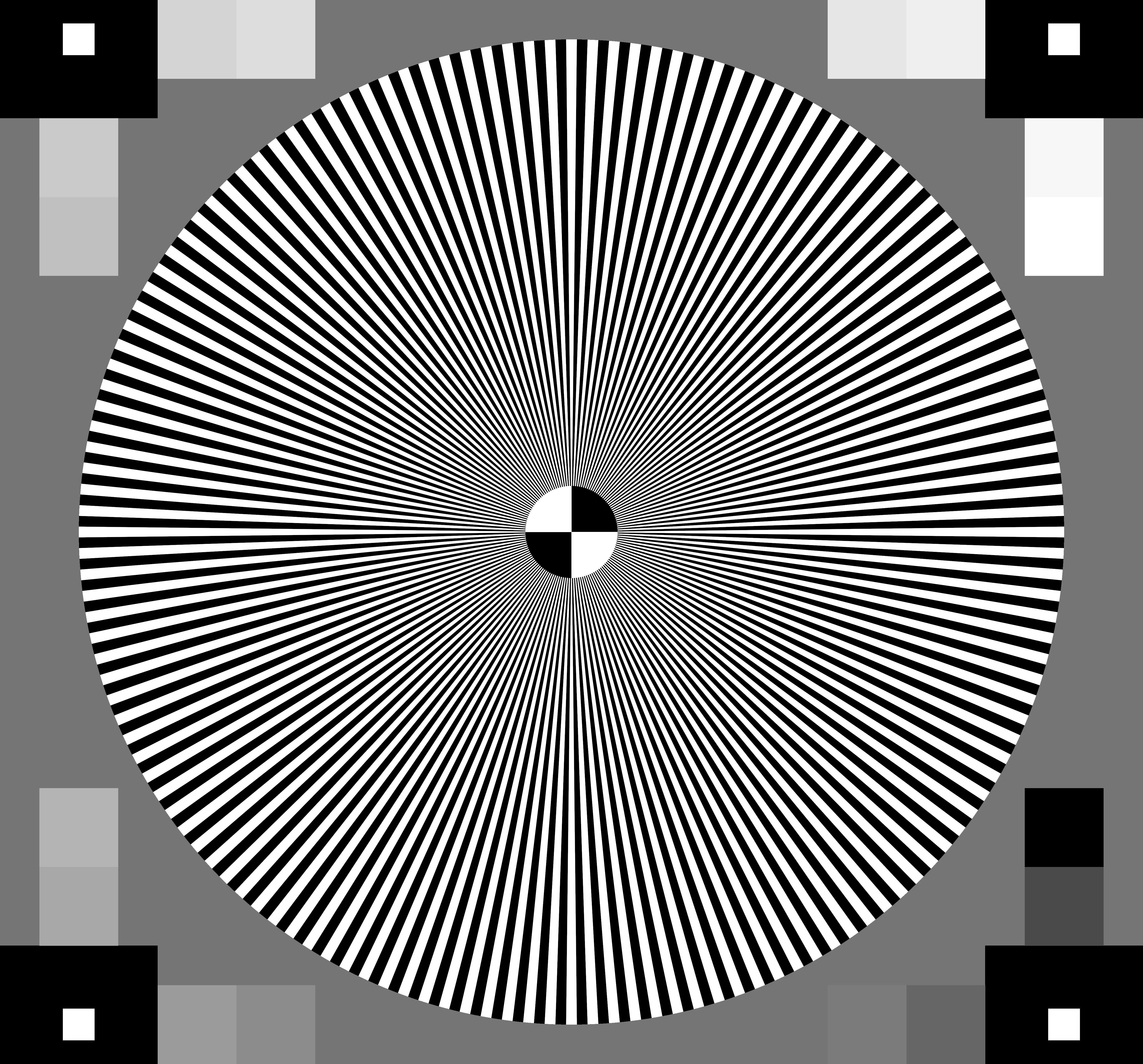 High Resolution Test Patterns
